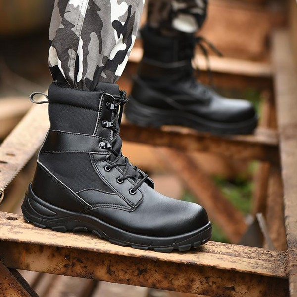 High Work Boots Puncture Proof Anti-Smashing Steel Toe Safety Shoes