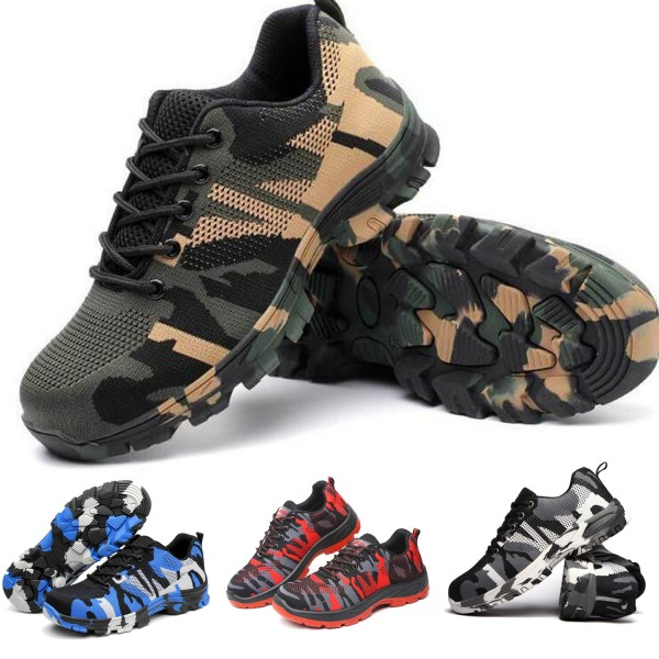 Indestructible Military Camouflage Battlefield Shoes Steel Toe Work Safety Shoes