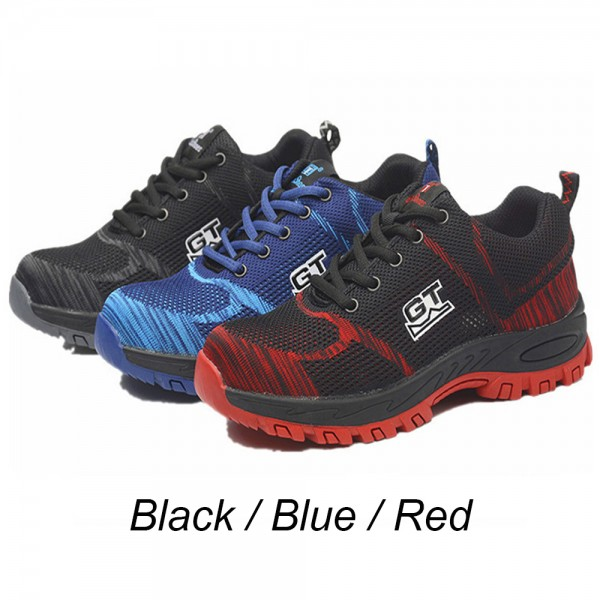 Anti-Smashing Steel Toe Work Safety Shoes Red/Black/Blue