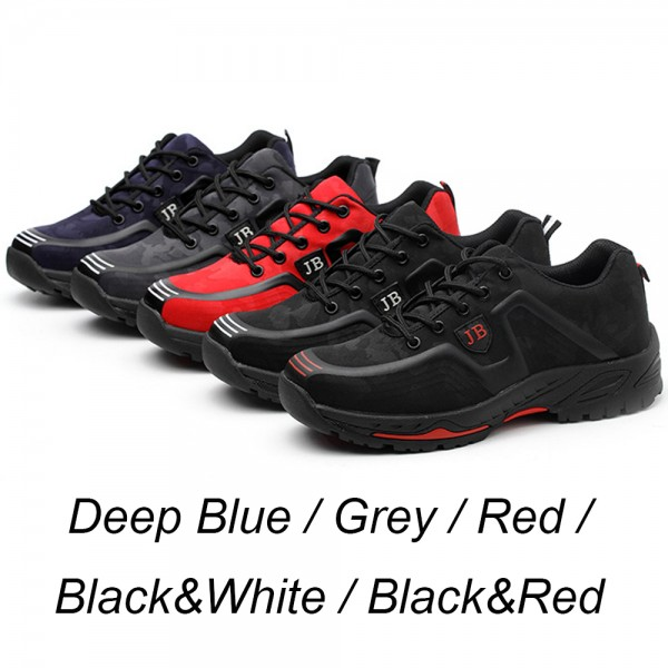 Puncture Proof Light Deodorant Anti-Smashing Steel Toe Work Safety Shoes Black/Grey/Deep Blue/Red