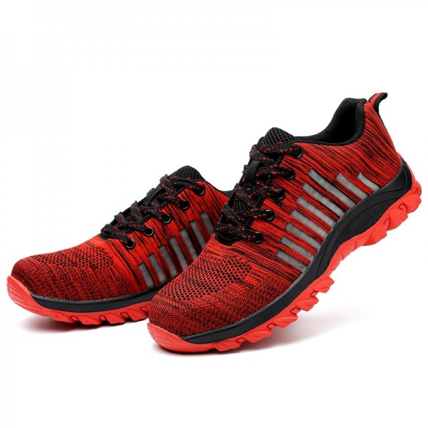Indestructible Breathable Mesh Light Shoes Steel Toe Work Safety Shoes