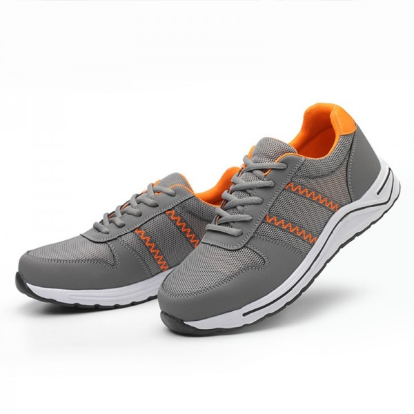 Light Weight  Breathable Mesh Puncture Proof  Steel Toe Work Safety Shoes